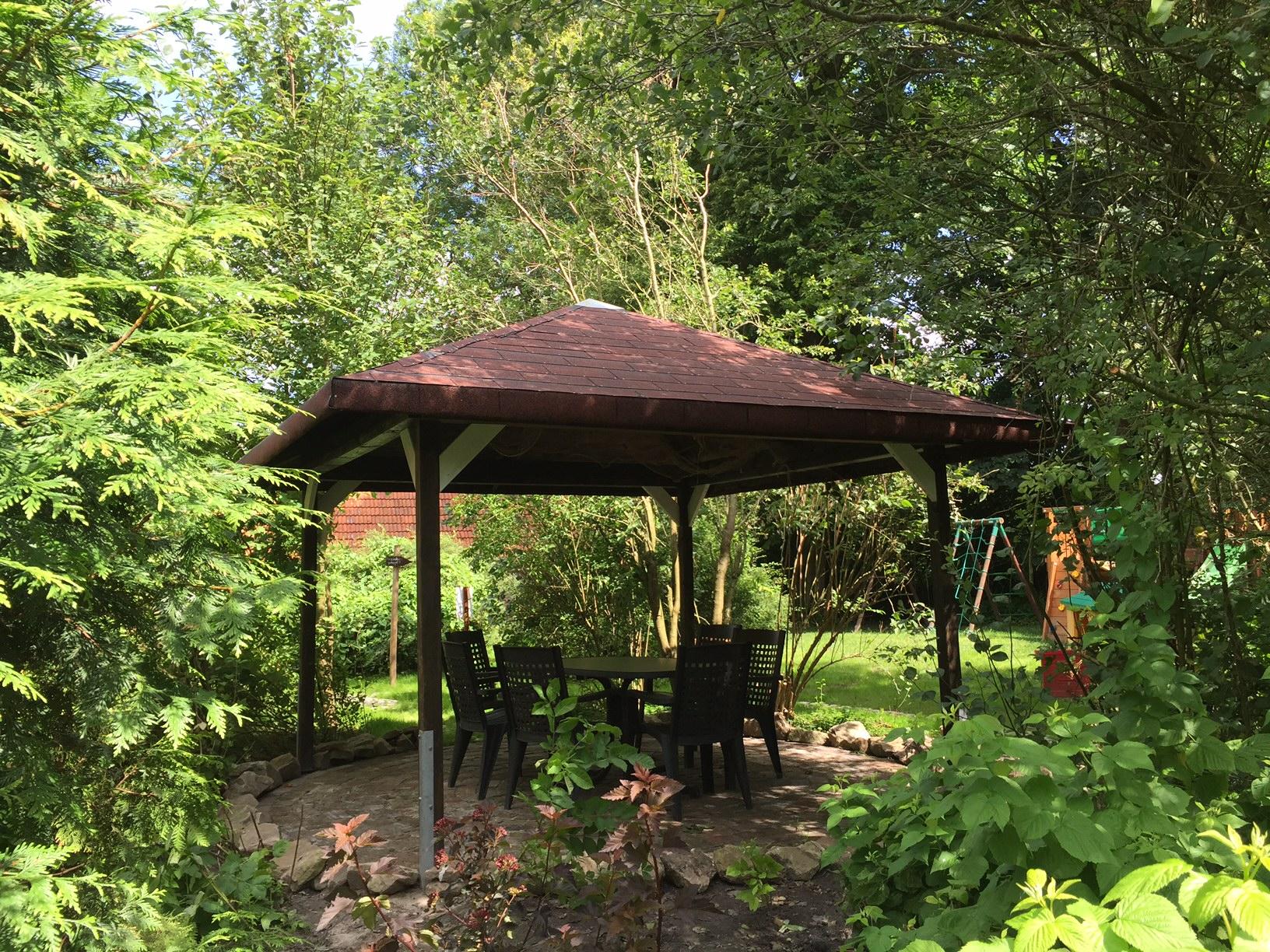 Pavillon der Ferienwohnung Weitblick
